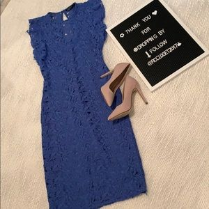 Zara Blue Lace Dress-XS